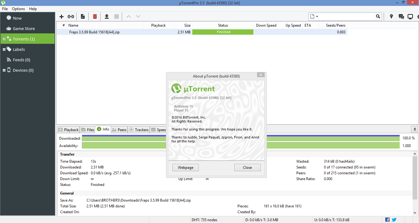 uTorrent Pro 2