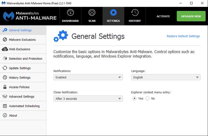 Malwarebytes Premium screenshot 1