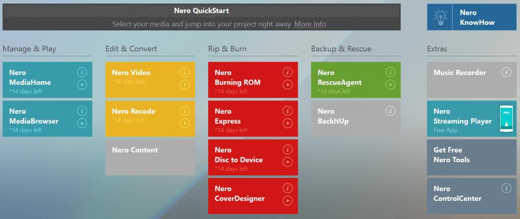 Nero Platinum Suite screenshots 1