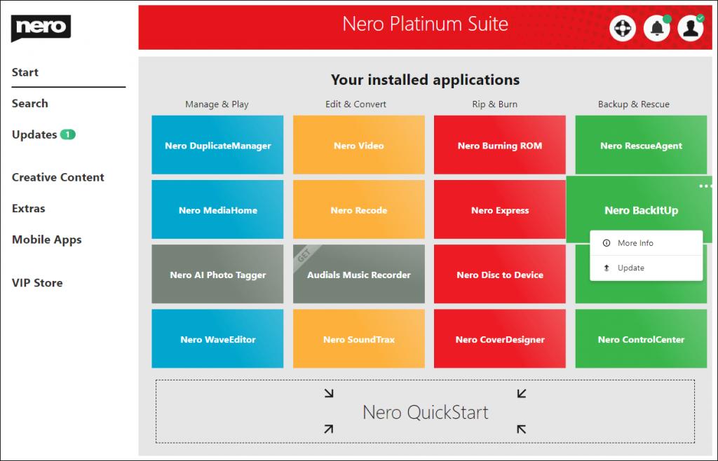 Nero Platinum Suite screenshots 3