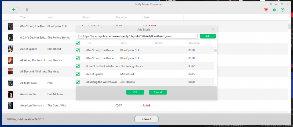 Sidify Music Converter screenshots