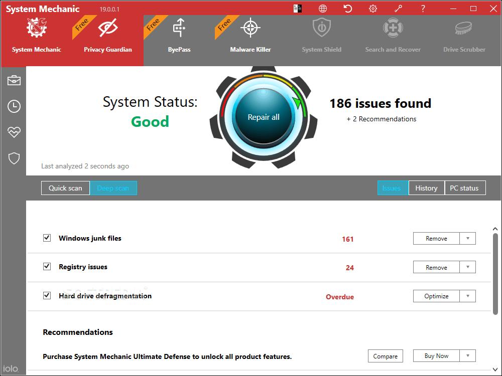 System Mechanic Pro screenshots 3