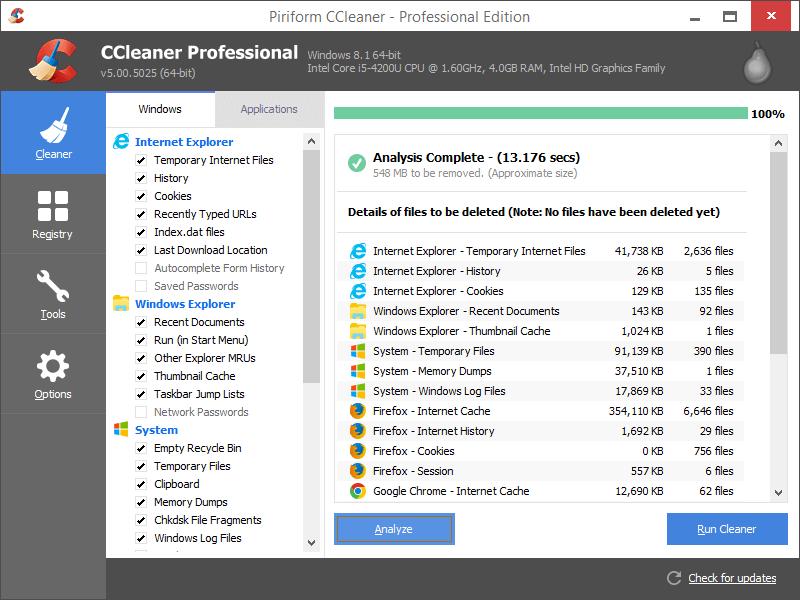 ccleaner pro screenshots 1
