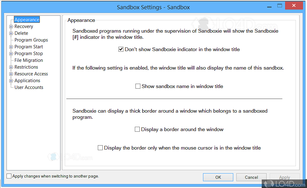 sandboxie screenshots
