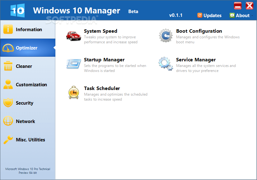 yamicsoft windows 10 manager screenshots