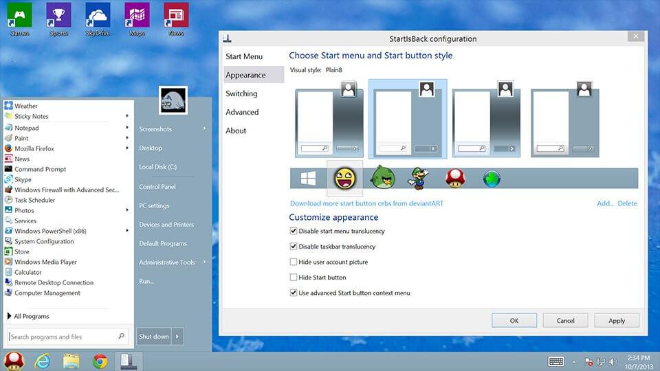 startisback screenhots