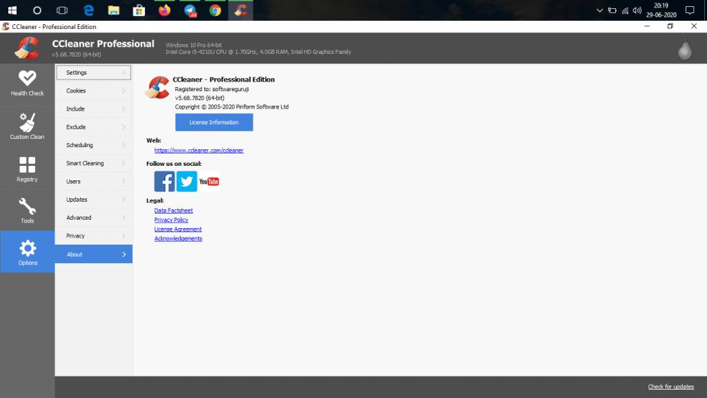 ccleaner professional screenshots